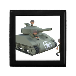 Cartoon Tank and Soldiers Going Forward Gift Box