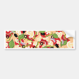 Cartoon Tasty Pizza2 Bumper Sticker
