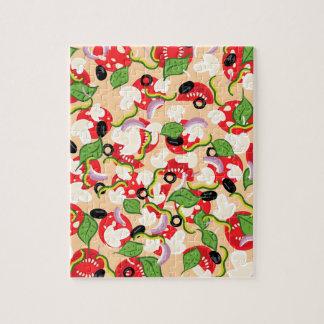 Cartoon Tasty Pizza2 Jigsaw Puzzle