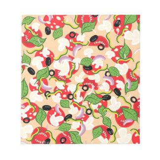 Cartoon Tasty Pizza2 Notepad