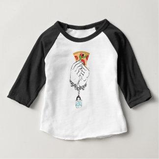 Cartoon Tasty Pizza and Hands2 Baby T-Shirt