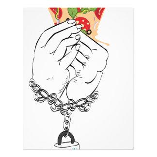 Cartoon Tasty Pizza and Hands2 Letterhead