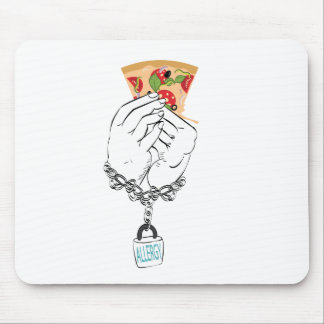 Cartoon Tasty Pizza and Hands2 Mouse Pad