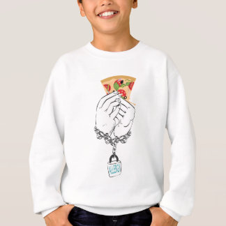 Cartoon Tasty Pizza and Hands2 Sweatshirt