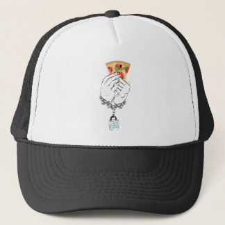 Cartoon Tasty Pizza and Hands2 Trucker Hat