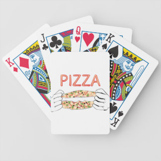 Cartoon Tasty Pizza and Hands3 Bicycle Playing Cards