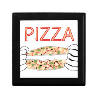 Cartoon Tasty Pizza and Hands3 Gift Box