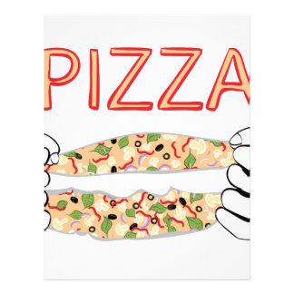 Cartoon Tasty Pizza and Hands3 Letterhead