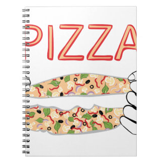 Cartoon Tasty Pizza and Hands3 Notebooks