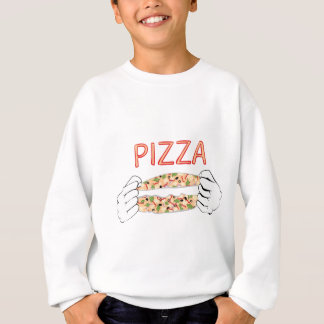 Cartoon Tasty Pizza and Hands3 Sweatshirt