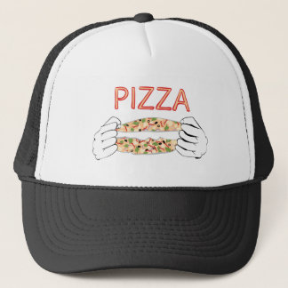 Cartoon Tasty Pizza and Hands3 Trucker Hat