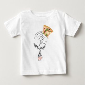Cartoon Tasty Pizza and Hands Baby T-Shirt