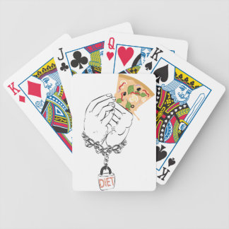 Cartoon Tasty Pizza and Hands Bicycle Playing Cards