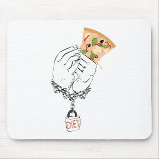 Cartoon Tasty Pizza and Hands Mouse Pad
