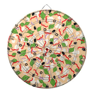 Cartoon Tasty Pizza Dartboard