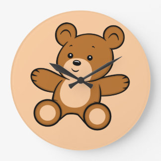 Cartoon Teddy Bear Clock