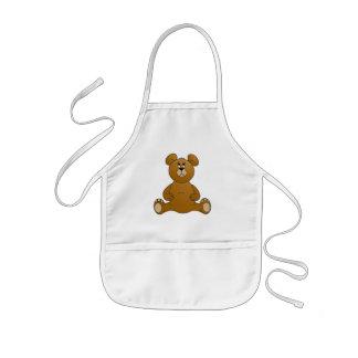 Cartoon Teddy Bear Kids Apron