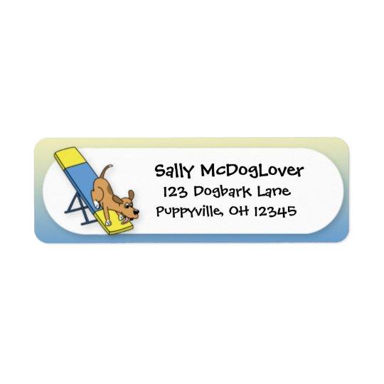 Cartoon Teeter Totter Agility Return Address Label