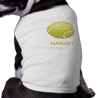 Cartoon Tennis Ball And Pet's Name Shirt