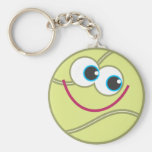 Cartoon Tennis Ball Keychains