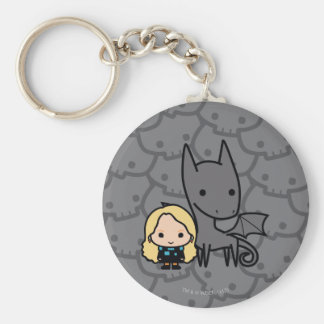 Cartoon Thestral and Luna Character Art Keychain