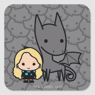 Cartoon Thestral and Luna Character Art Square Sticker