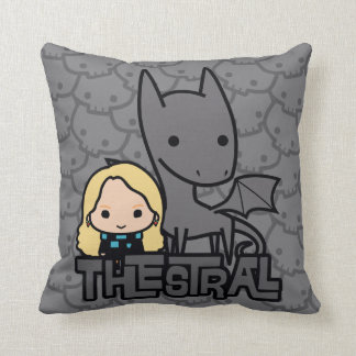 Cartoon Thestral and Luna Character Art Throw Pillow