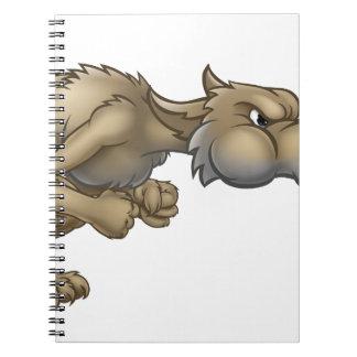 Cartoon Three Little Pigs Big Bad Wolf Blowing Notebooks