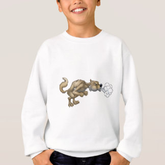 Cartoon Three Little Pigs Big Bad Wolf Blowing Sweatshirt