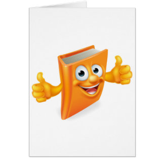 Cartoon Thumbs Up Book Card