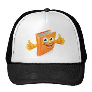 Cartoon Thumbs Up Book Trucker Hat