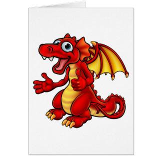 Cartoon Thumbs Up Dragon Card
