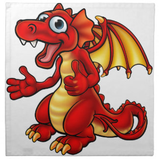 Cartoon Thumbs Up Dragon Napkin