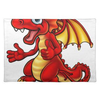 Cartoon Thumbs Up Dragon Placemat