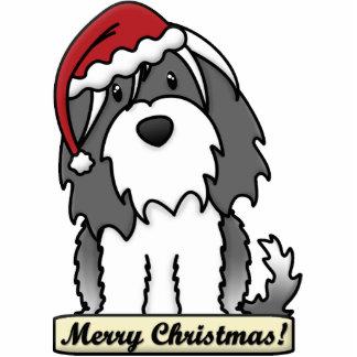 Cartoon Tibetan Terrier Christmas Ornament Photo Sculpture Ornament