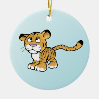 cartoon tiger ceramic ornament