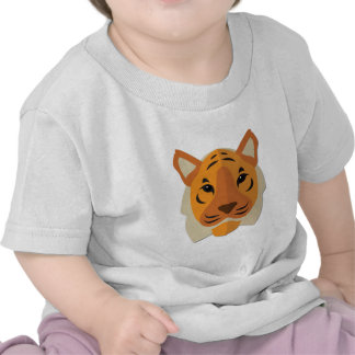 Cartoon Tiger Head T Shirt