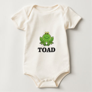 cartoon toad yeah baby bodysuit