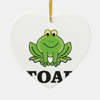 cartoon toad yeah ceramic ornament