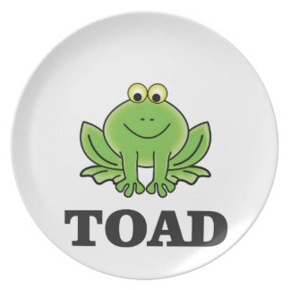 cartoon toad yeah party plate