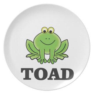 cartoon toad yeah plate