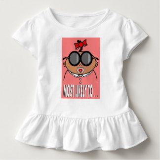 Cartoon Toddler Wearing Big Sunglasses Toddler T-shirt