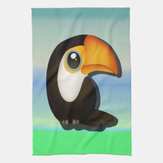 Cartoon Toucan Hand Towels