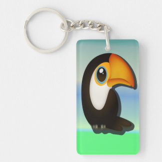 Cartoon Toucan Keychain
