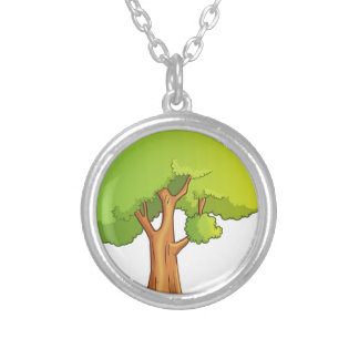 Cartoon Tree Silver Plated Necklace