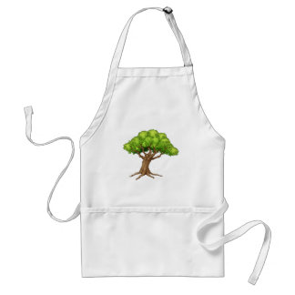 Cartoon Tree Standard Apron