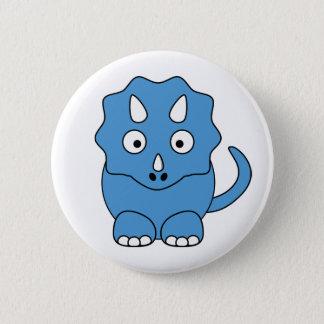 Cartoon Triceratops (blue) 2 Inch Round Button