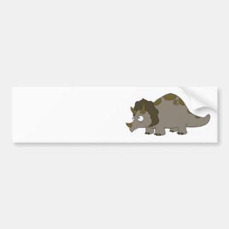 Cartoon Triceratops Bumper Sticker