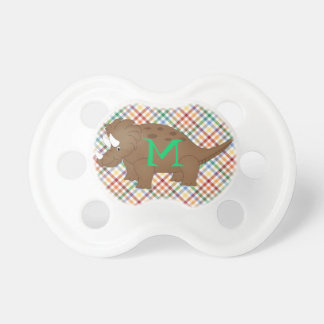 Cartoon Triceratops Dinosaur Baby Pacifier