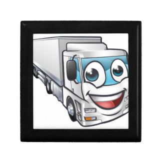 Cartoon Truck Lorry Transport Mascot Character Gift Box